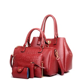 Classic Alligator Pattern Bag Set