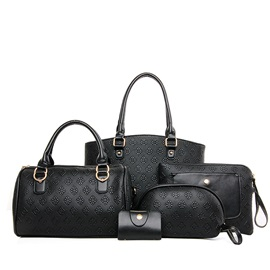 Geometrical Pattern Embossing Women's Bag Set ( Five Bags )