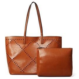 Rectangle Hollow Pattern Tote Bag Sets