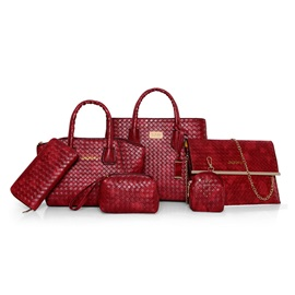 Versatile Weaved Pattern Bag Sets