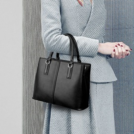 Occident Style Solid Color Satchel