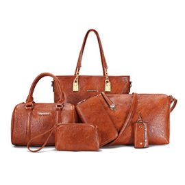 Retro Embossing Women Bag Set