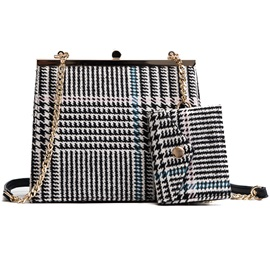 Chic Stripe Pattern Chain Bag Set (Two Bags Set)