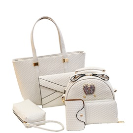 Luxury Style Solid Color Bag Set