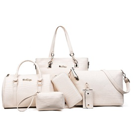 Occident Style Solid Color Bag Set
