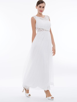 Scoop Neck Cap Sleeves Ruched Lace Evening Dresss