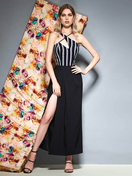 Sheath Split-Front Ankle-Length Sleeveless Evening Dress 2019