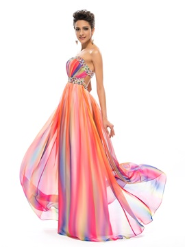 Stylish A-Line Sweetheart Sequins Beading Long Prom Dress Designed