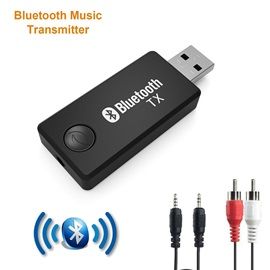 Bluetooth Transmitter USB/3.5mm Audio Wireless Adapter for TV/DVD/TV BOX/Tablet
