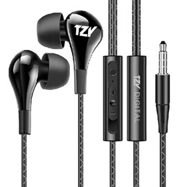 TZY HD Stereo Wire-control Subwoofer Earphone