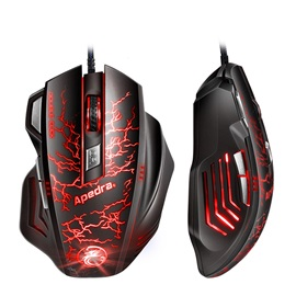 APEDRA A7 Wired Mice with 7 Buttons & 3200 Dpi 5 Adjustable Dpi Levels