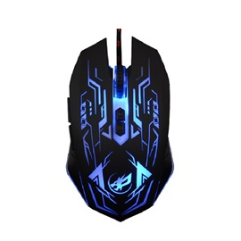 WHR Wolf USB Wired Mouse with 7 Buttons & LED Light