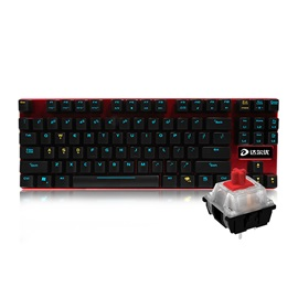DAREU Mechanical Wired Keyboard with 87 Keys & LED Light