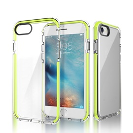 iPhone 7 Case Dual Layer Crystal Clear Shockproof Anti-Scratch Soft Transparent TPU Case for iPhone 7 & 7 Plus