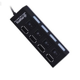 USB 2.0 4-port HUB with Individual Switch for USB Devices