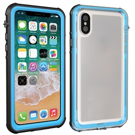 iPhone X Phone Case Water Resistant,Ultra Thin PC+PU Shell
