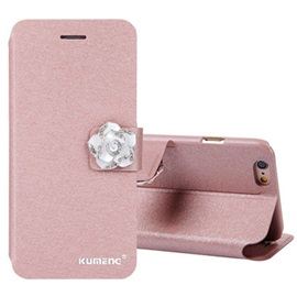 For iPhone6/6S/7/7Plus/5/5S/SE Phone Shell Silk Print Crystal Dull Polish Flip-Open Cover