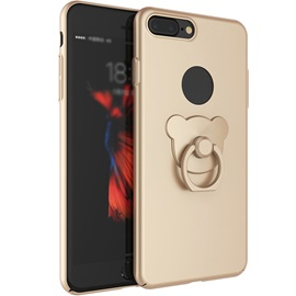 Plain Color Bear Ring Holders Back Cover Mobile Phone Shell For Iphone 6/6S/7 Plus 6/6S/7