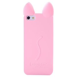 For iPhone 5/5s/SE 6/6S/7 Plus 6/6S/7 Cartoon Cat's Ear Silicon Dirt-Resistant Back Cover Mobile Phone Shell