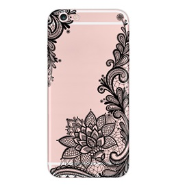 Embossed Lace Silicone Case for iPhone 5/5s/SE iPhone 6/6S/6 Plus/6s Plus iPhone 7/7Plus
