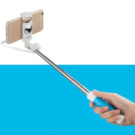Mini Portable Wire Selfie Stick for IOS/android