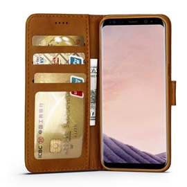 Solid Colors Leather Wallet Case with Stand for Samsung Galaxy S8/S8 Plus/S7 Edge/S7
