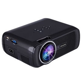 EVERYCOM Portable HD 1080P Projector 3D LED Home Theater