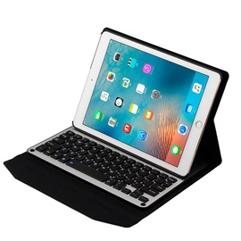 Portable Bluetooth Keyboard with Aluminum Alloy Leather Case