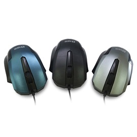 SF-8169 Wired Mouse 3 Buttons 1200 Dpi 3 Adjustment Levels Portable Mouse for PC