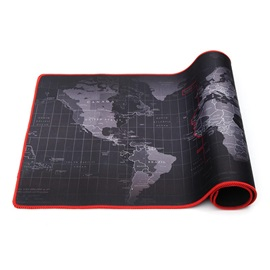 World Map Pattern Oversize Mouse Pad 300mm x 700mm