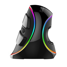 DeLUX M618 Plus RGB Luminous Wired Optical Mouse Ergonomic Vertical Mouse 1600 DPI