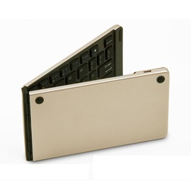 F66 Folding Bluetooth Keyboard Aluminum Alloy Waterproof Keyboard for iPad/Tablet/Laptop