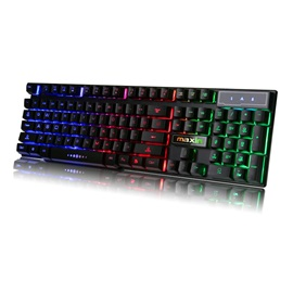 MAXIN K6 Wired Keyboard with Colorful LED light for PC