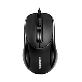 006 Black Mini 1.5m Wired Mouse with 1200 Dpi