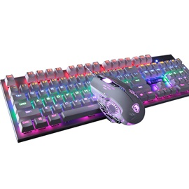 SADES Mechanical Keyboard with 104-key & Mouse Combo