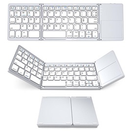 Mini Ultra-thin Foldable Keyboard with Touch-pad