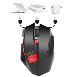 W2 Wireless Charging 2.4G Lighting Office Mouse