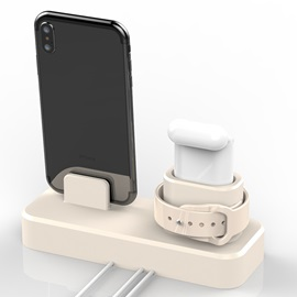 3-in-1 Silicone Mobile Phone Charging Stand for iPhone iWatch