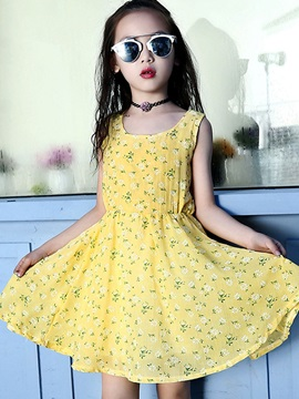 Bohemia Sleeveless Girl's Dress