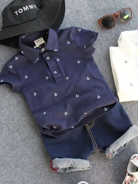 Polo Shirt & Denim Shorts Boy's 2-Piece Outfit