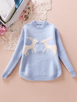 Lovely Korean Giraffe Print Sweater
