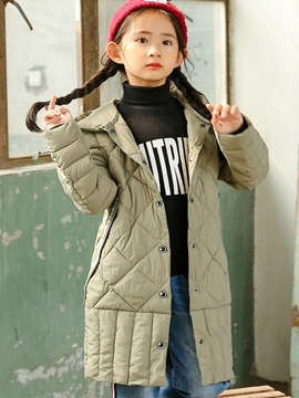 Fashion Letter Print Pleated Hooded Down Jacket