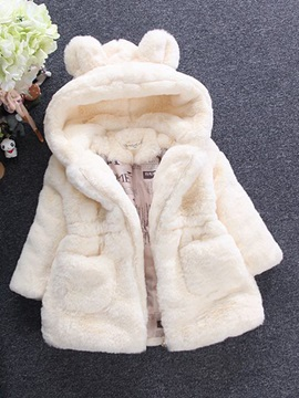 Little Ears Hooded Fleece Baby Girl's Coat