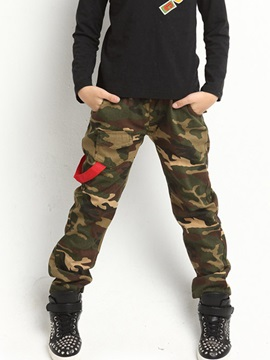 Military Camouflage Full Length Boy's Pants