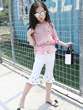 Bead Pullover Mid-Calf Girl's Suit
