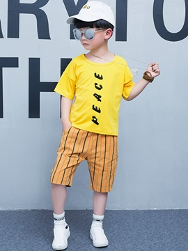 Casual Loose-Fit Printing Boy's 2-Piece Outfit