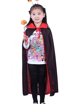 Halloween Hooded Lace-Up Girl's Cape