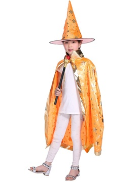 Halloween Five Star Party Magician Children's Cloak And Hat
