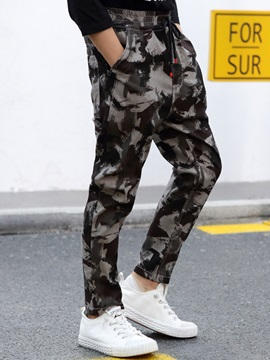 Camouflage Loose Cotton Blends Boys' Casual Pants
