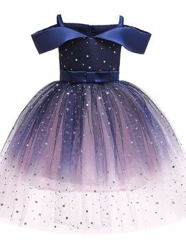 Off-shoulder Baby Kid's Girl's Princess Dresses